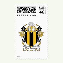 Van Ameyde Family Crest Stamps
