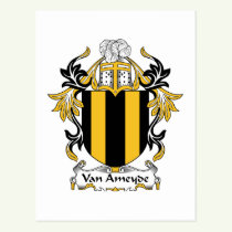 Van Ameyde Family Crest Postcard