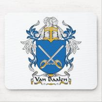 Van Baalen Family Crest Mousepad