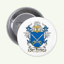 Van Baalen Family Crest Button