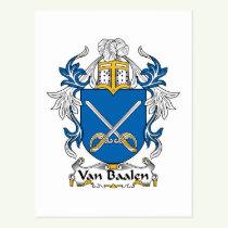 Van Baalen Family Crest Postcard