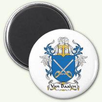 Van Baalen Family Crest Magnet