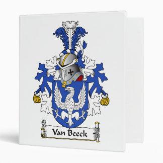 Van Beeck Family Crest 3 Ring Binders