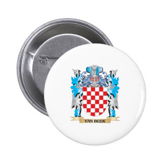 Van-Beek Coat of Arms - Family Crest 2 Inch Round Button