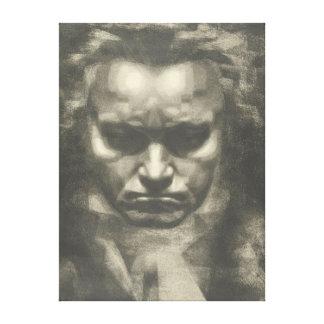 Van Beethoven portrait Canvas Print