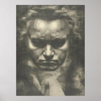 Van Beethoven portrait Poster