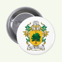 Van Berkhout Family Crest Button