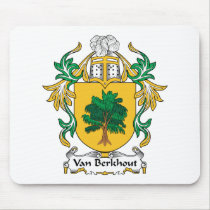 Van Berkhout Family Crest Mousepad