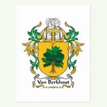 Van Berkhout Family Crest Postcard