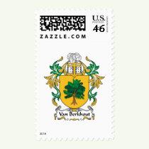 Van Berkhout Family Crest Stamps