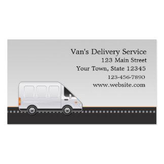 Van blanco, servicio de entrega tarjetas de visita