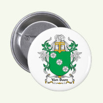 Van Boon Family Crest Button
