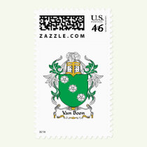 Van Boon Family Crest Stamps