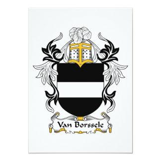 Van Borssele Family Crest Card