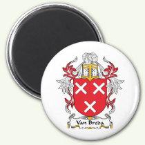 Van Breda Family Crest Magnet