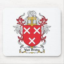 Van Breda Family Crest Mousepad