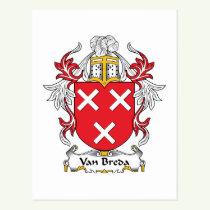 Van Breda Family Crest Postcard