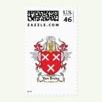 Van Breda Family Crest Stamps