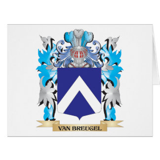 Van-Breugel Coat of Arms - Family Crest Large Greeting Card