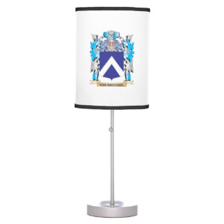 Van-Breugel Coat of Arms - Family Crest Table Lamps