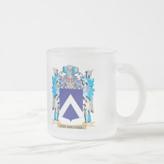 Van-Breugel Coat of Arms - Family Crest 10 Oz Frosted Glass Coffee Mug