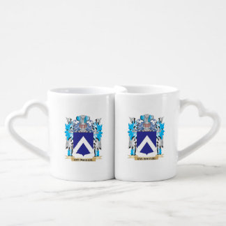 Van-Breugel Coat of Arms - Family Crest Couples' Coffee Mug Set