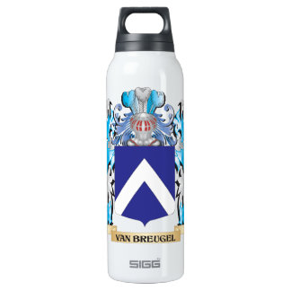 Van-Breugel Coat of Arms - Family Crest 16 Oz Insulated SIGG Thermos Water Bottle