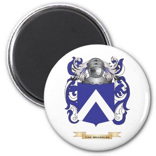 Van Breukelen Family Crest (Coat of Arms) Fridge Magnets