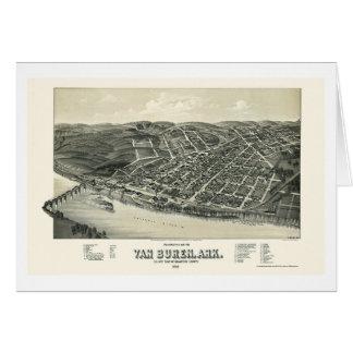 Van Buren, AR Panoramic Map - 1888 Greeting Card