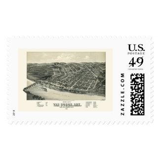 Van Buren, AR Panoramic Map - 1888 Stamp