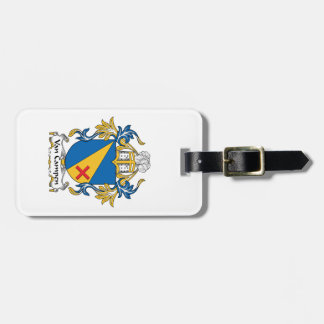 Van Campen Family Crest Luggage Tag