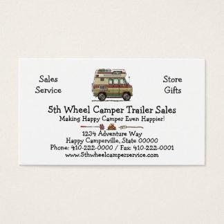 Van Camper Trailer Business Card