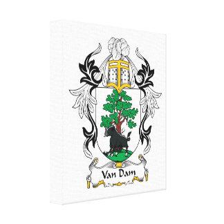 Van Dam Family Crest Canvas Print