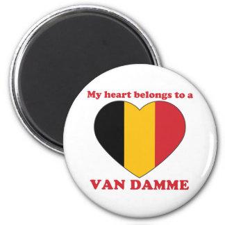 Van Damme 2 Inch Round Magnet