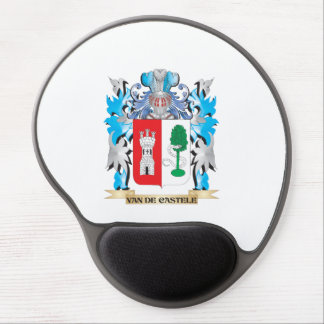 Van-De-Castele escudo de armas - escudo de la Alfombrillas De Ratón Con Gel