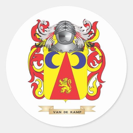 Van de Kamp Family Crest (Coat of Arms) Round Stickers