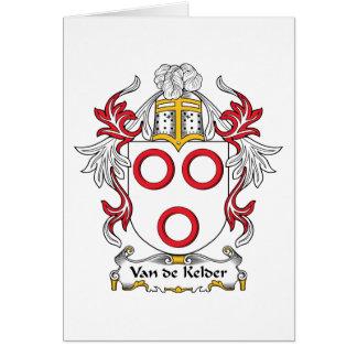 Van de Kelder Family Crest Card