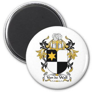 Van de Wall Family Crest 2 Inch Round Magnet
