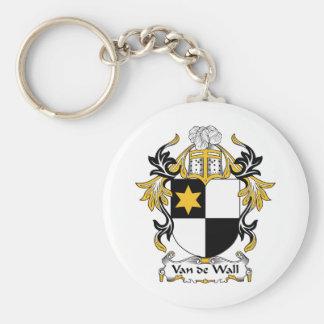 Van de Wall Family Crest Basic Round Button Keychain