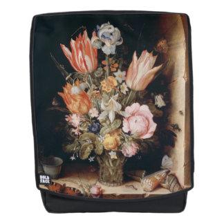 Van den Berghe's Flowers art backpack