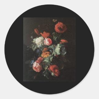 Van Den Broeck Flower Piece Round Sticker
