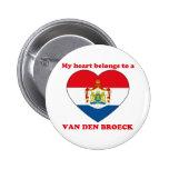 Van Den Broeck Pinback Buttons