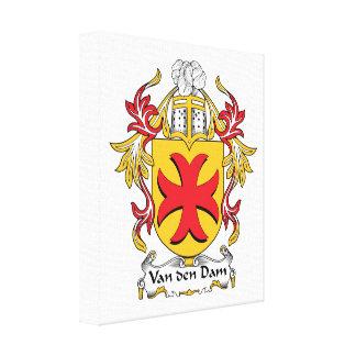 Van den Dam Family Crest Stretched Canvas Prints