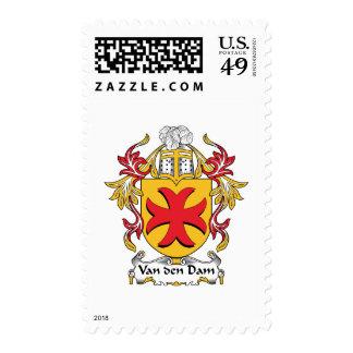 Van den Dam Family Crest Stamp