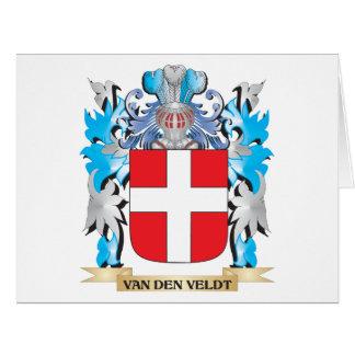 Van-Den-Veldt Coat of Arms - Family Crest Large Greeting Card