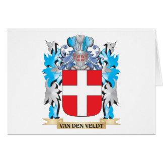 Van-Den-Veldt Coat of Arms - Family Crest Stationery Note Card