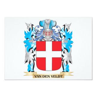 Van-Den-Veldt Coat of Arms - Family Crest 5x7 Paper Invitation Card