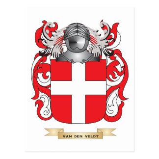 Van Den Veldt Family Crest (Coat of Arms) Postcard