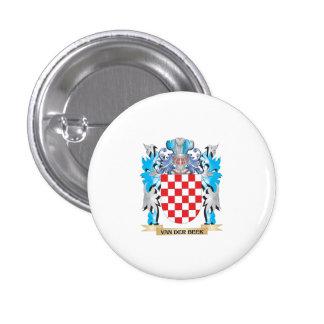 Van-Der-Beek Coat of Arms - Family Crest 1 Inch Round Button