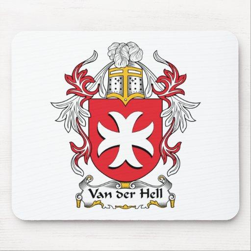 Van der Hell. Escudo de la familia Alfombrillas De Ratón